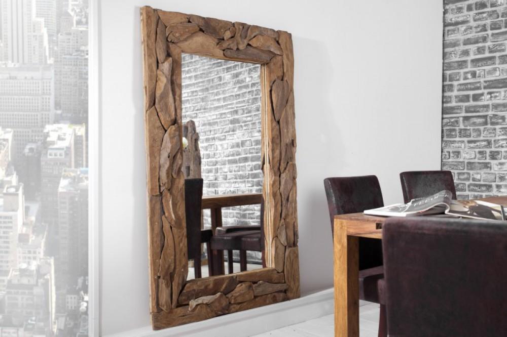 spiegel altholz rahmen wandspiegel ma e 160x100 cm. Black Bedroom Furniture Sets. Home Design Ideas