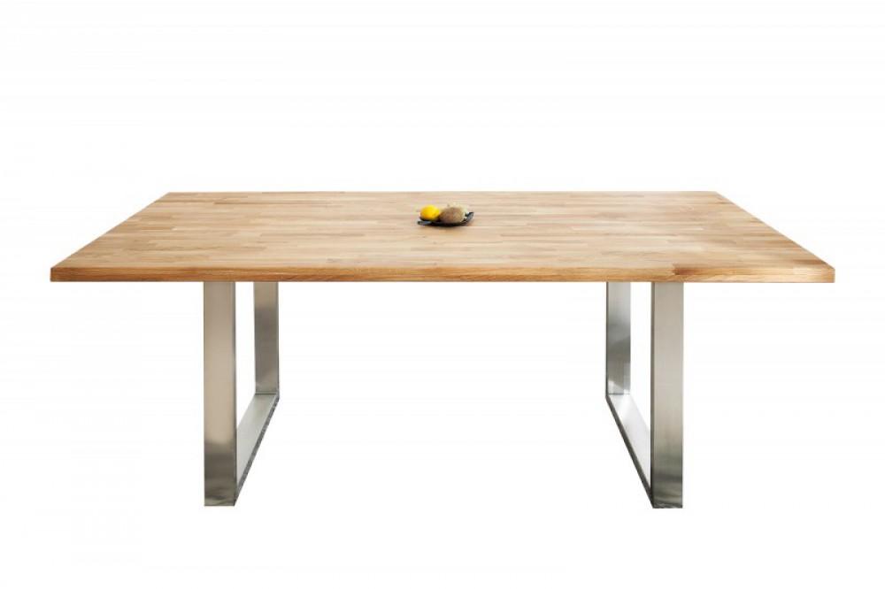 esstisch massivholz tisch industrie tischbeine metall schwarz grau ma e 200 x 100 cm. Black Bedroom Furniture Sets. Home Design Ideas