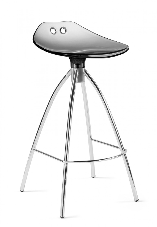design bar tresenhocker farbe grau chrom sitzh he 65 cm. Black Bedroom Furniture Sets. Home Design Ideas