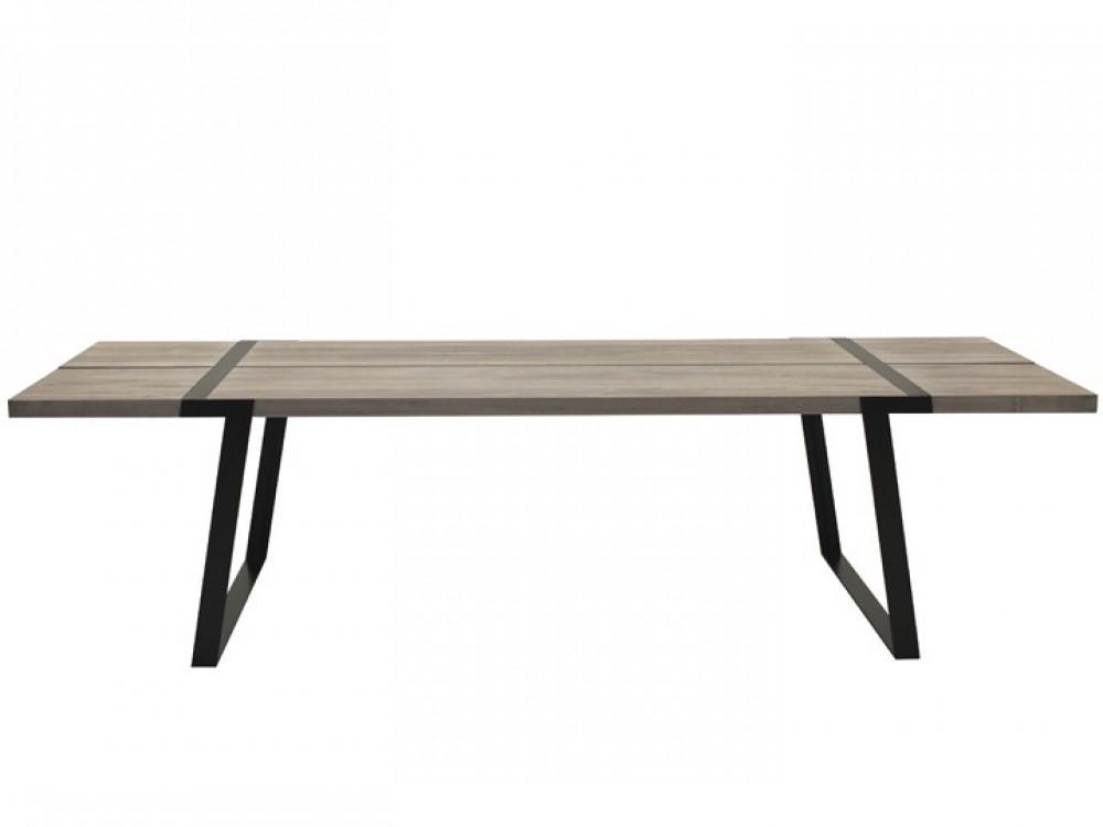 Esstisch Eiche Weiß Geölt, Tisch Eiche Massiv Weiß, Tischbeine Metall  Schwarz, Maße 240 X 100 Cm