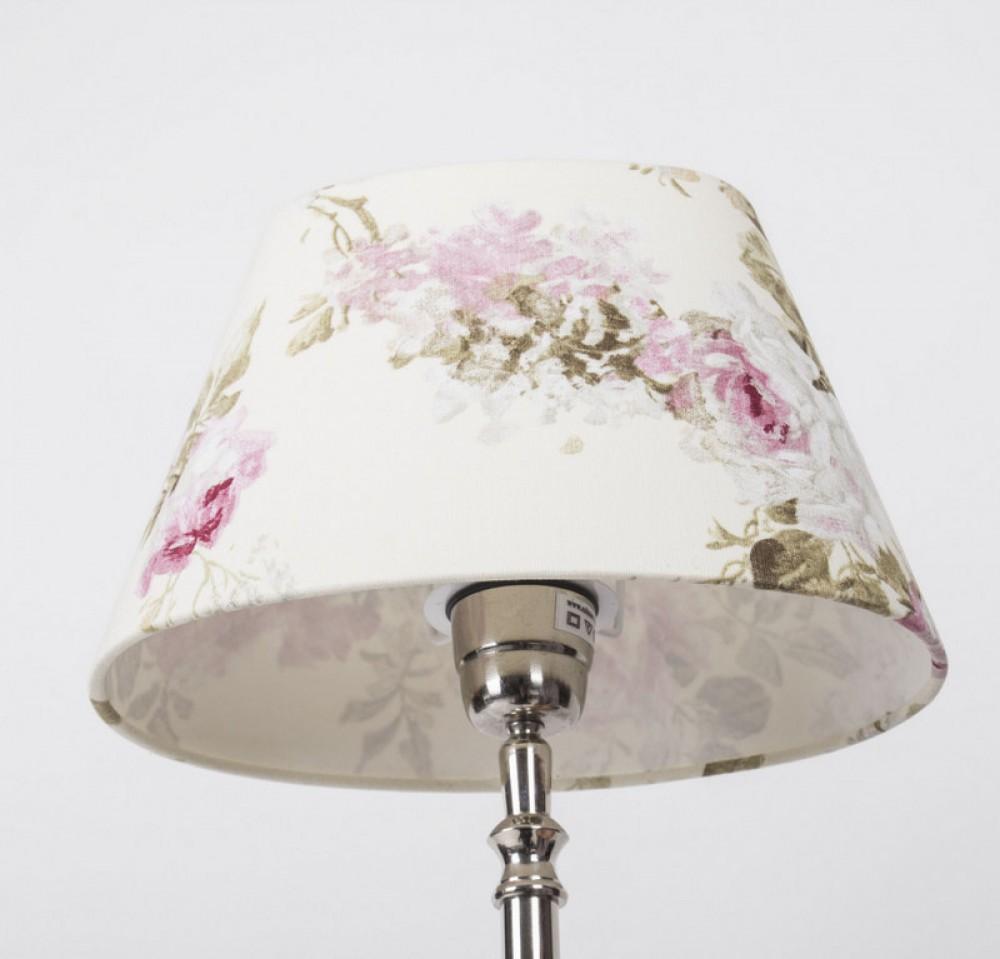 lampenschirm oval f r tischleuchte lampenschirm wei blumig durchmesser 24 cm. Black Bedroom Furniture Sets. Home Design Ideas