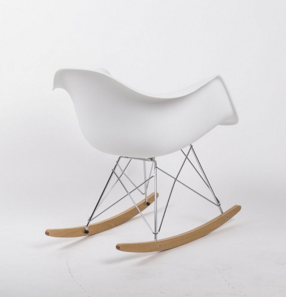 Design schaukelstuhl sessel stuhl wei einzelst ck for Kunststoff schaukelstuhl
