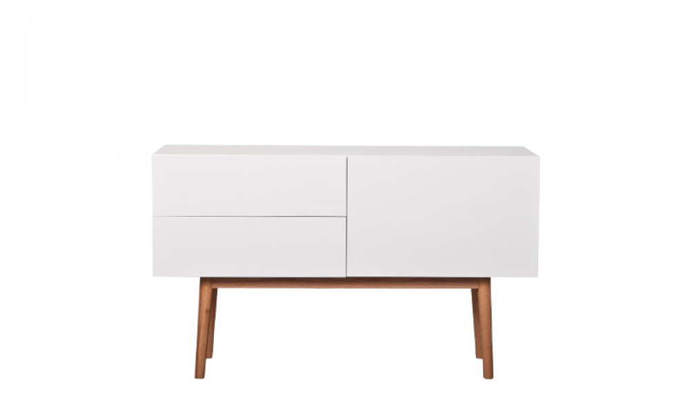 design sideboard tv schrank aus holz eiche mdf gl nzend wei. Black Bedroom Furniture Sets. Home Design Ideas