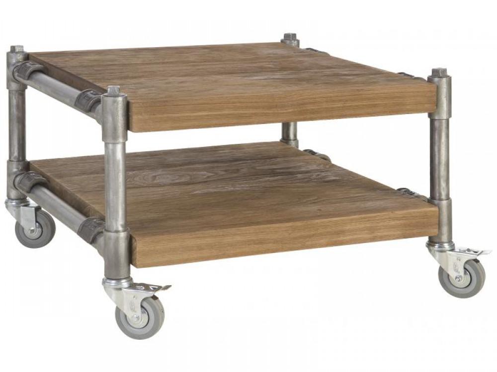Esstisch im industriedesign tisch mit rohrgestell mit for Esstisch tisch industriedesign