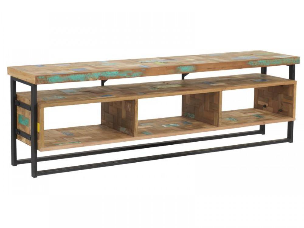 tv schrank im industriedesign lowboard breite 150 cm. Black Bedroom Furniture Sets. Home Design Ideas