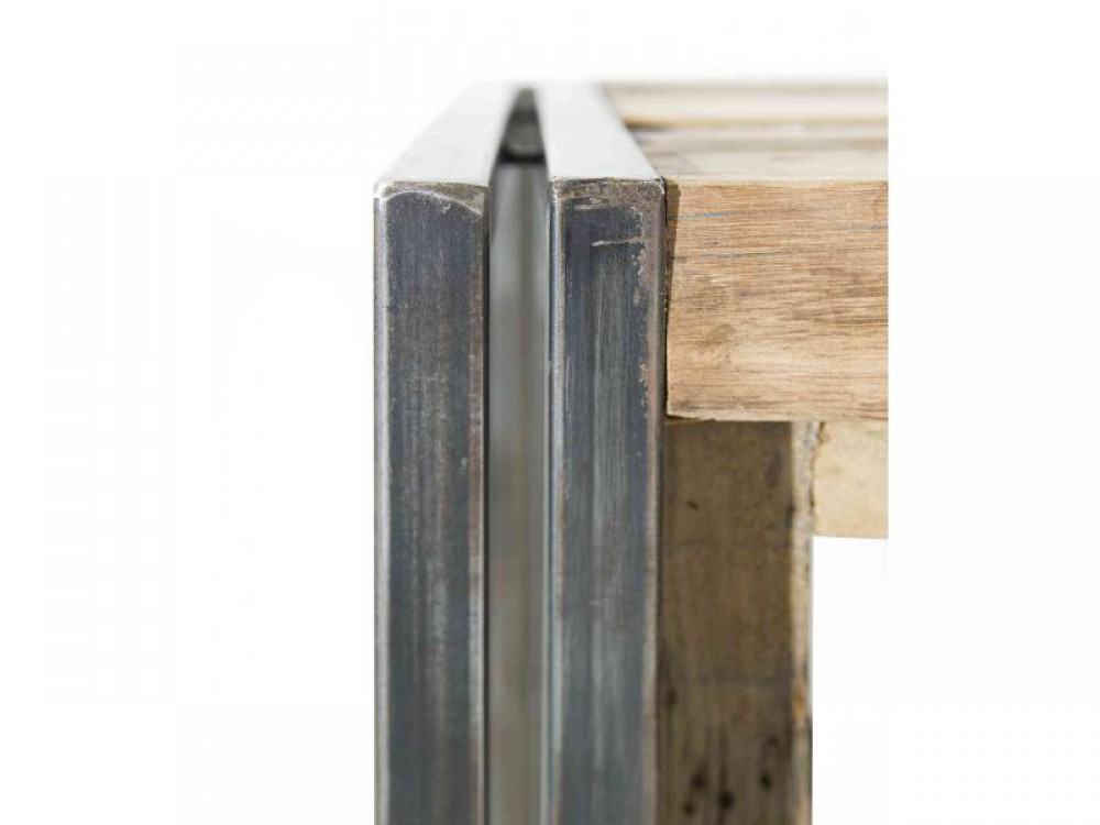 regal im industriedesign, bücherregal aus metall und holz  ~ Bücherregal Industriedesign