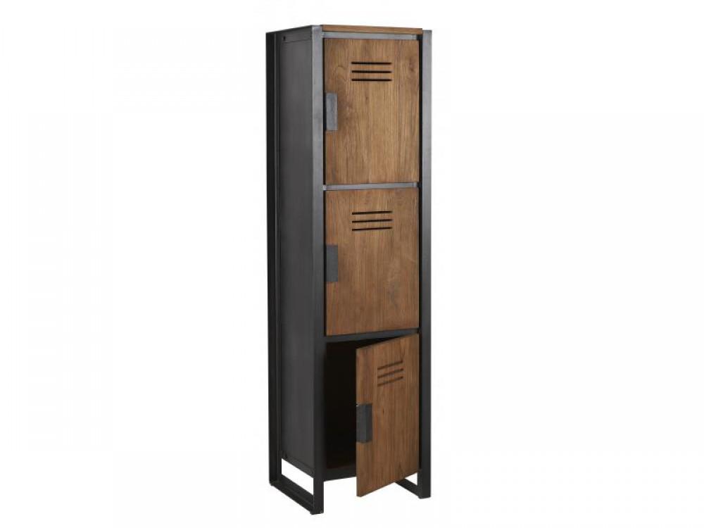 schrank im industriedesign kleiderschrank mit drei t ren. Black Bedroom Furniture Sets. Home Design Ideas