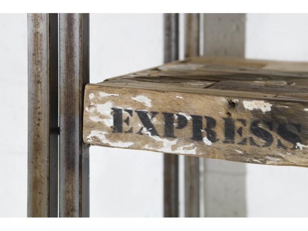 Regal im Industriedesign, Bücherregal aus Metall und Holz  ~ Bücherregal Industriedesign