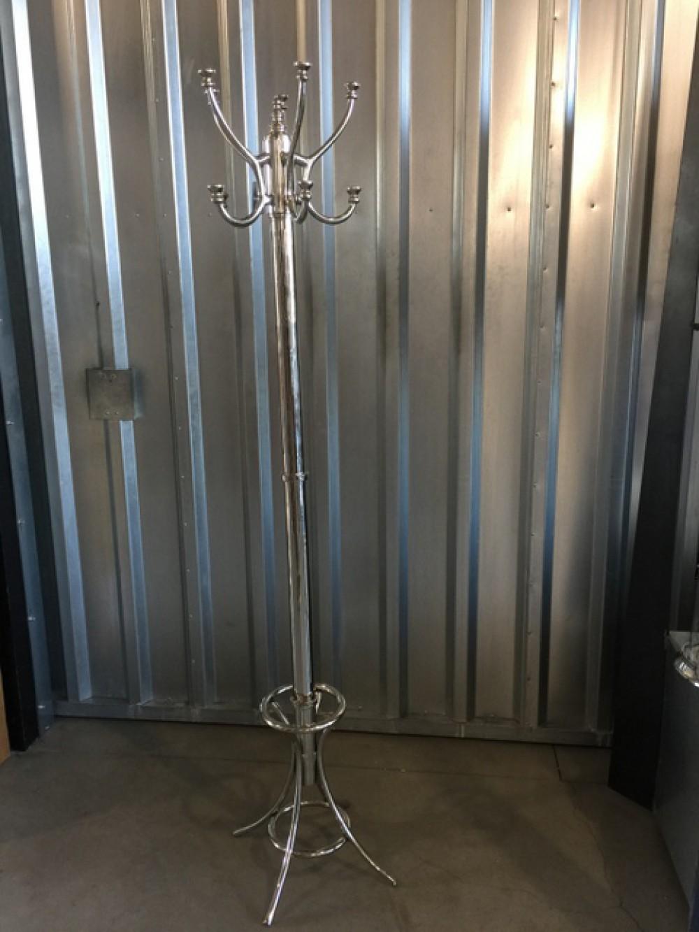 stehgarderobe metall silber garderobe silber landhaus h he 185 cm. Black Bedroom Furniture Sets. Home Design Ideas