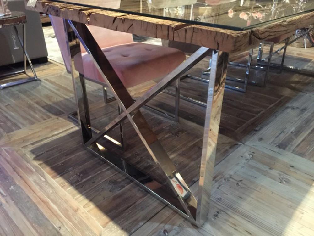 Tischplatte altholz  Esstisch Tischplatte aus Altholz, Tisch im Landhausstil, Länge 200 cm
