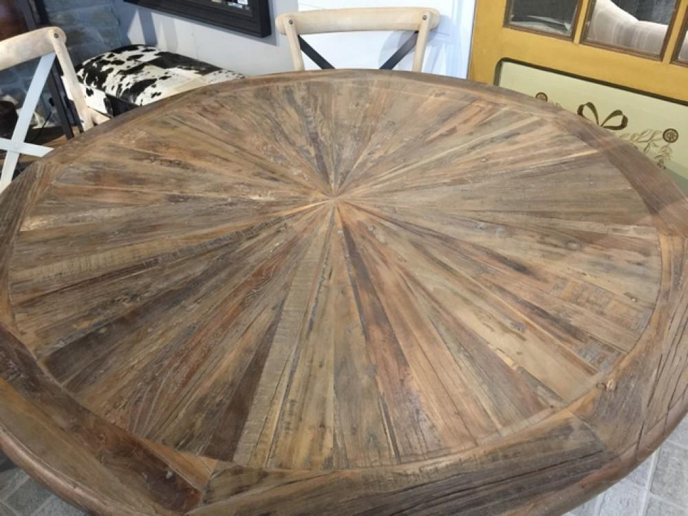 Tisch rund Massivholz, runder Esstisch Massivholz, Durchmesser 120 cm