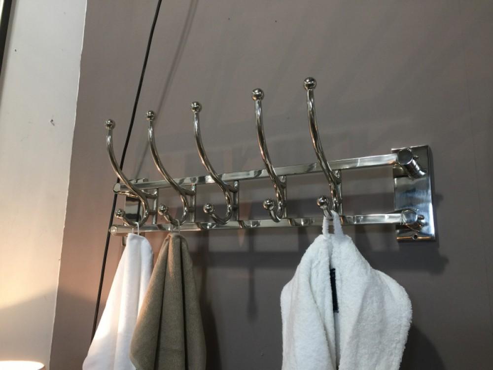 garderobe verchromt metall wandgarderobe silber landhaus. Black Bedroom Furniture Sets. Home Design Ideas