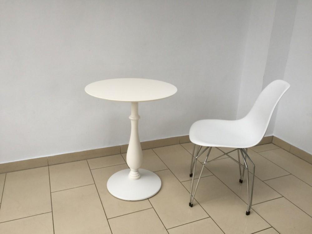 Barocktisch wei tisch rund wei bistrotisch rund wei for Bistrotisch rund