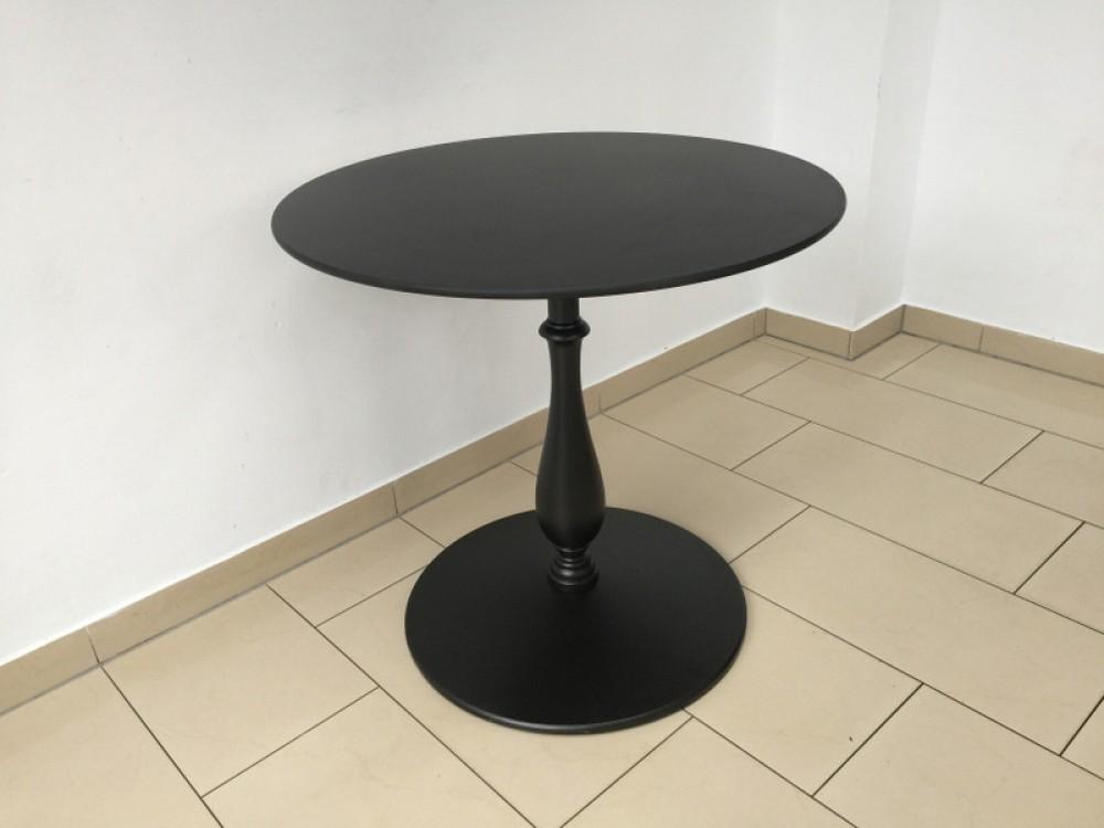 barocktisch schwarz tisch rund schwarz bistrotisch rund schwarz durchmesser 80 130 cm. Black Bedroom Furniture Sets. Home Design Ideas