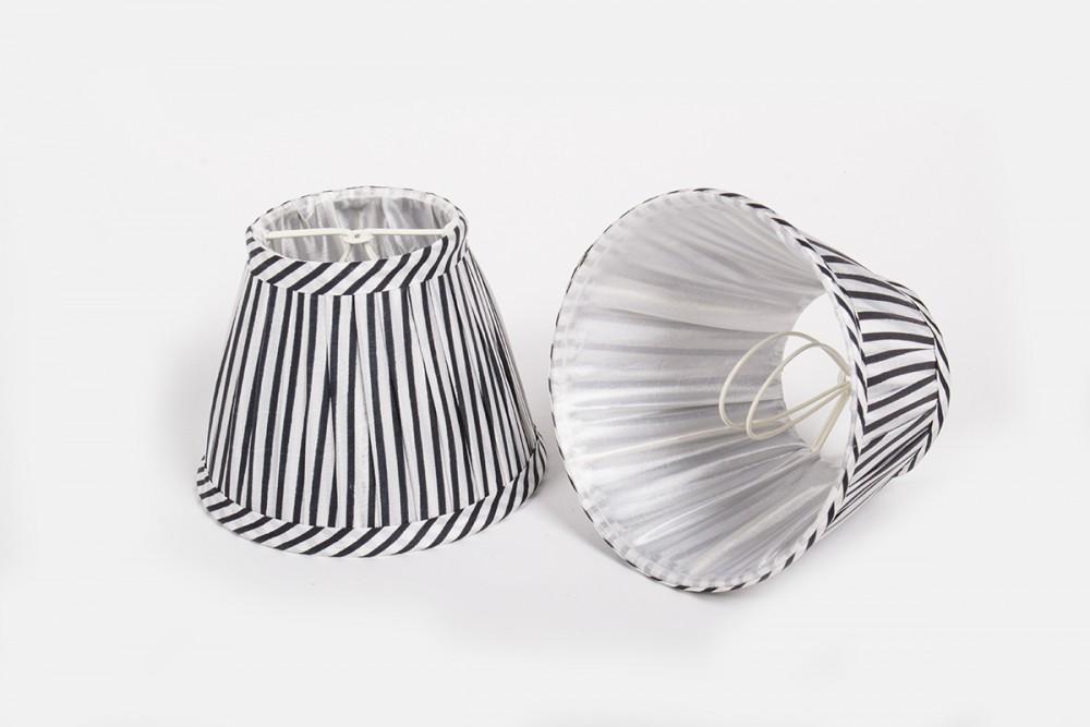 Kleine Lampenschirme Für Kronleuchter ~ Aufsteckschirm gestreift schwarz weiß kronleuchter kiemmschirm