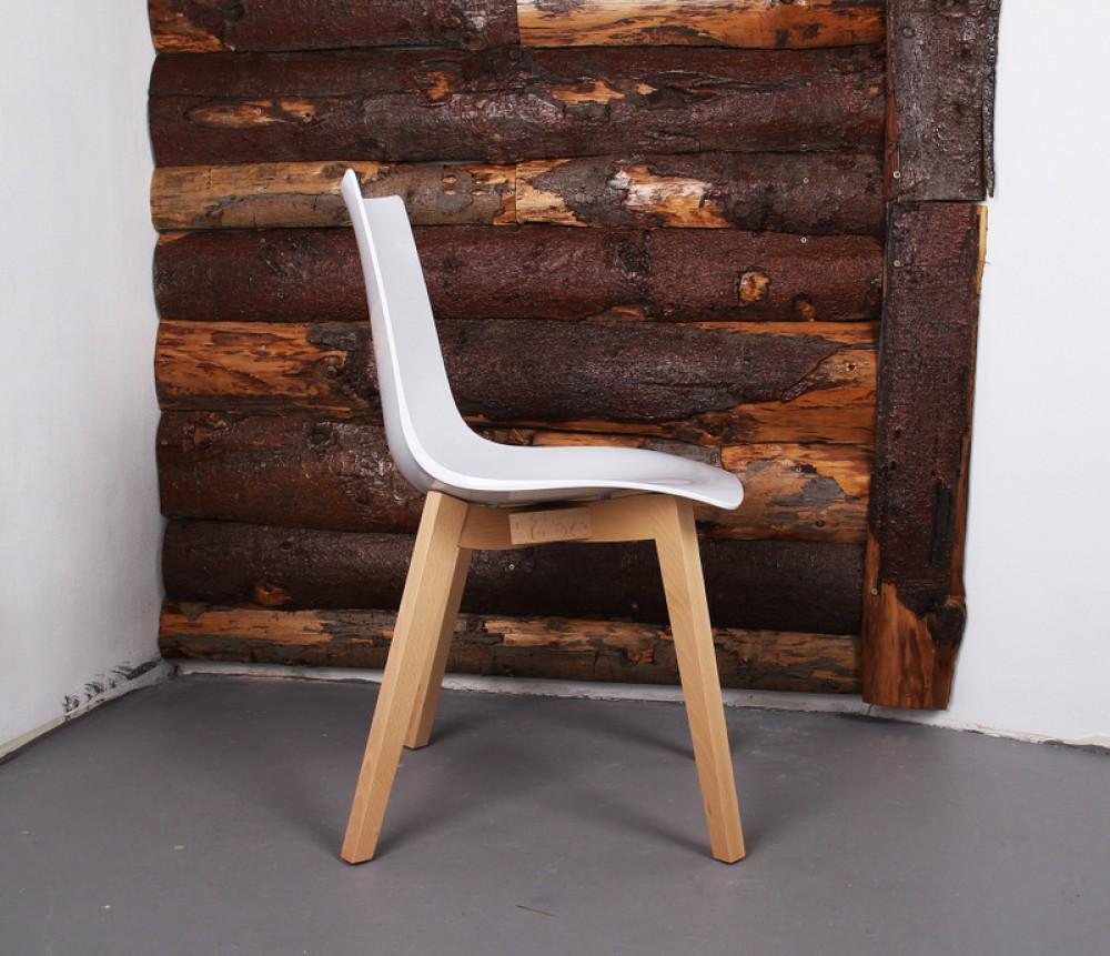 Design stuhl buche natural holz wei for Stuhl buche