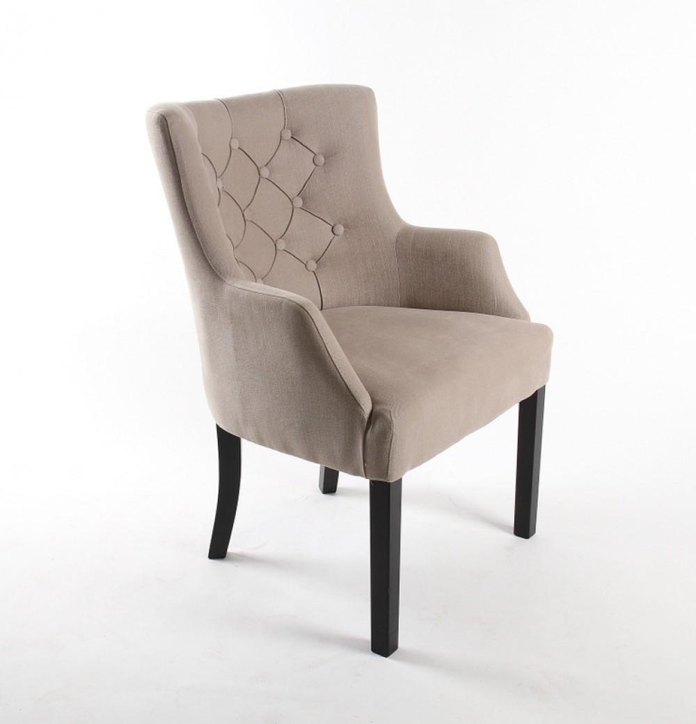 sessel chesterfield gepolsterter stuhl sessel farbe leinen. Black Bedroom Furniture Sets. Home Design Ideas