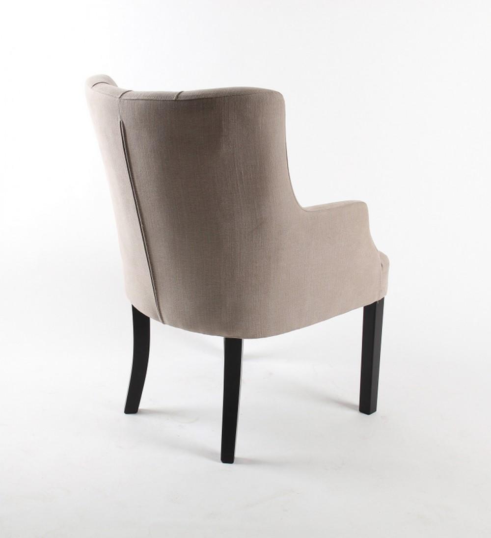 Sessel chesterfield gepolsterter stuhl sessel farbe leinen for Sessel stuhl