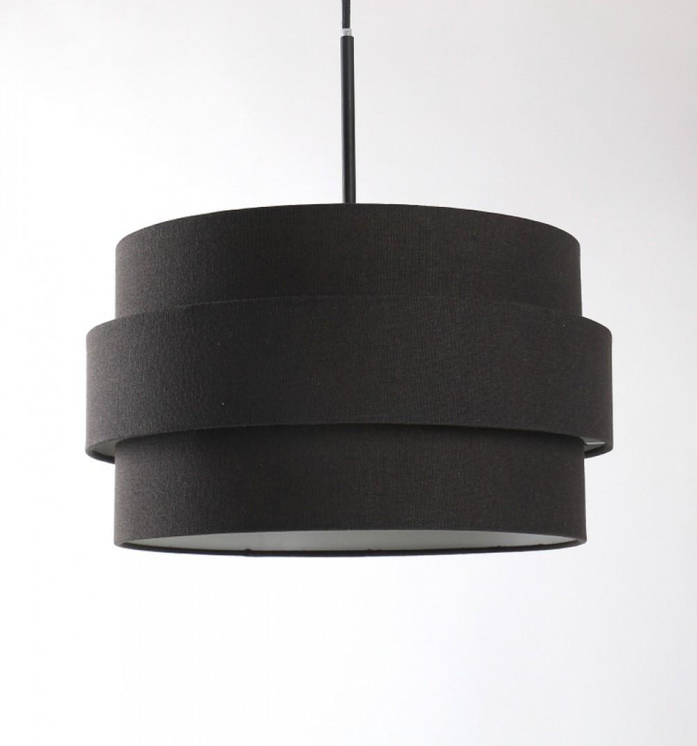 lampenschirm schwarz lampenschirm f r eine stehleuchte. Black Bedroom Furniture Sets. Home Design Ideas