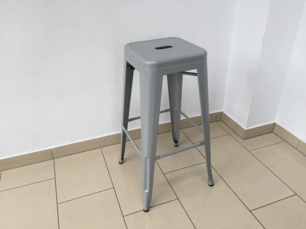 Barstuhl metall grau im industriedesign barhocker grau for Barstuhl grau