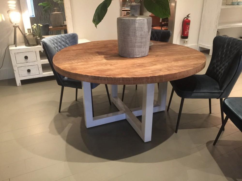 Runder tisch wei naturholz tisch rund industrie wei for Tisch naturholz