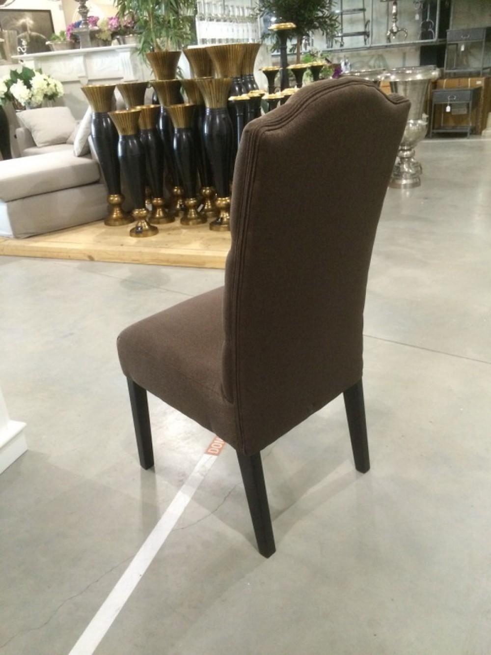 gepolsterter stuhl braun. Black Bedroom Furniture Sets. Home Design Ideas