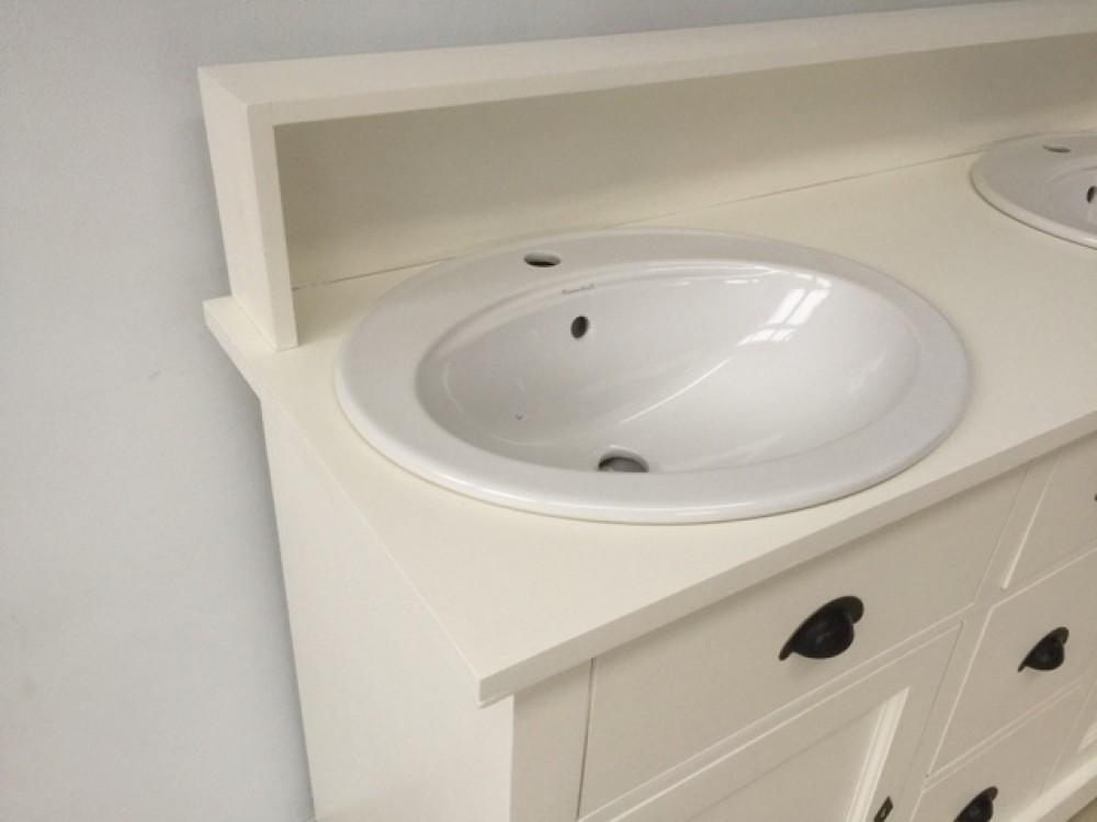 doppelwaschtisch wei landhaus waschtisch schrank massivholz grau. Black Bedroom Furniture Sets. Home Design Ideas