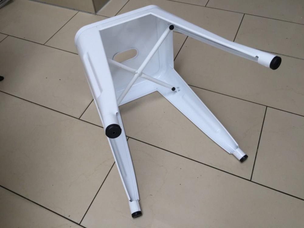 hocker metall wei im industriedesign metall hocker wei. Black Bedroom Furniture Sets. Home Design Ideas