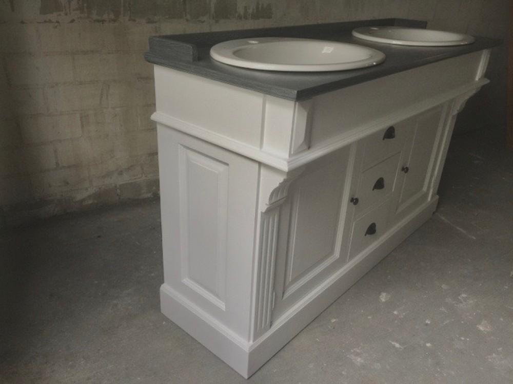 waschtisch wei grau landhaus waschtisch massivholz doppelwaschtisch im landhausstil. Black Bedroom Furniture Sets. Home Design Ideas