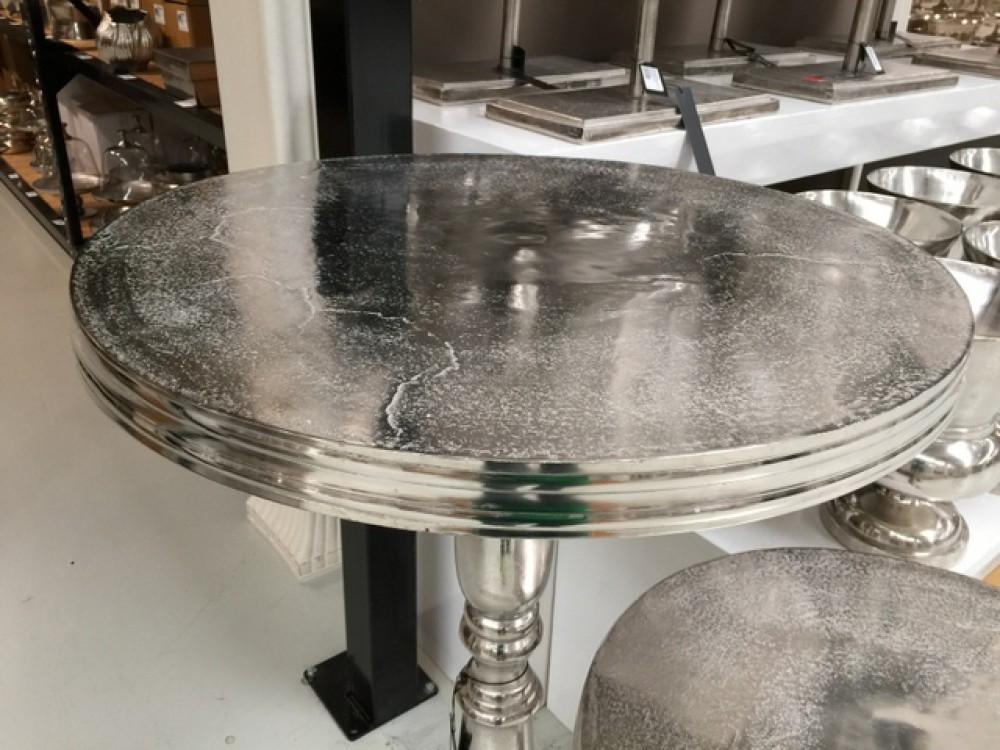 beistelltisch rund silber metall aluminium beistelltisch rund silber durchmesser 60 cm. Black Bedroom Furniture Sets. Home Design Ideas