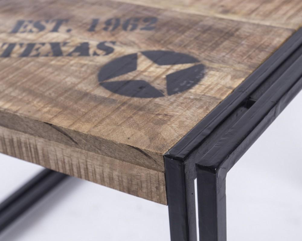 Beistelltisch aus massivholz im industriedesign 60 x 60 cm for Beistelltisch industriedesign