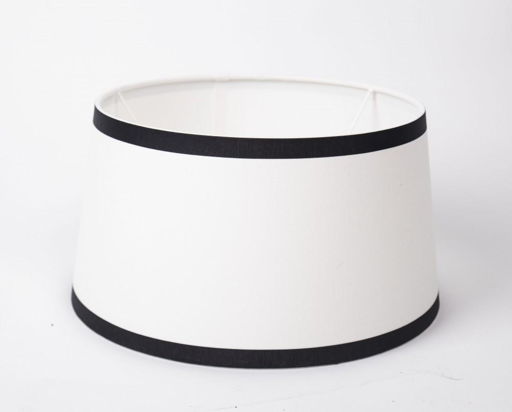 lampenschirm wei schwarz form rund 45 cm. Black Bedroom Furniture Sets. Home Design Ideas
