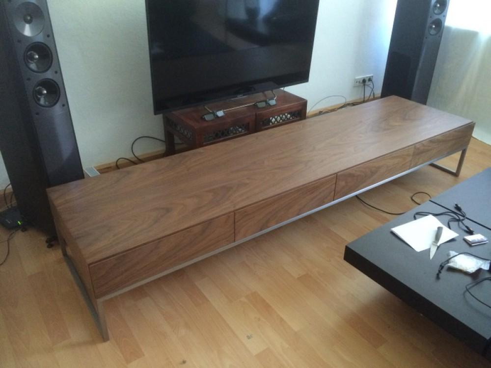 Lowboard Walnuss design tv schrank lowboard walnuss furniert mit vier türen