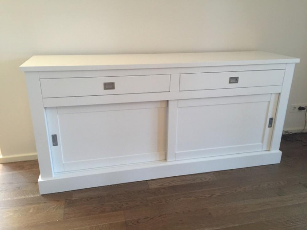 sideboard wei im landhausstil anrichte wei breite 200 cm. Black Bedroom Furniture Sets. Home Design Ideas