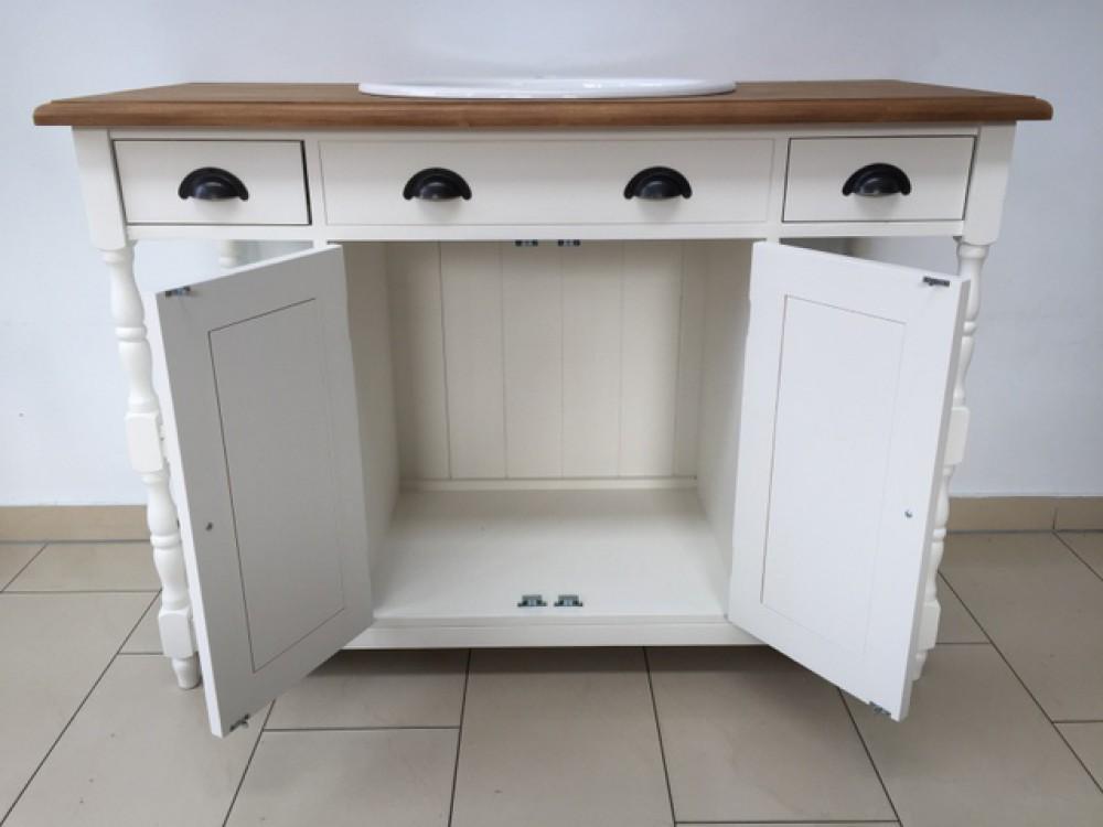 waschtisch wei massivholz landhaus waschtisch wei mit drei schubladen. Black Bedroom Furniture Sets. Home Design Ideas