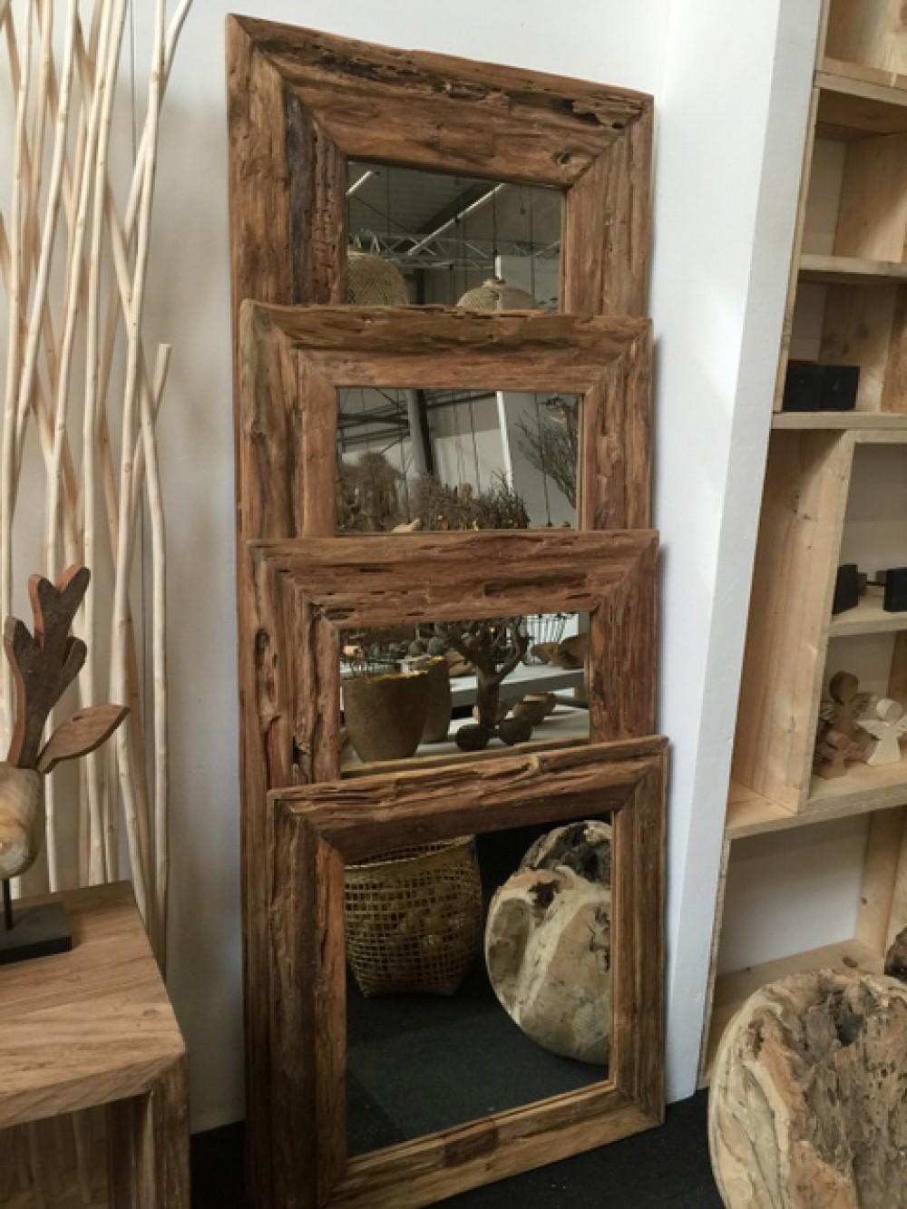 spiegel massivholz teak wandspiegel ma e 120 x 80 cm. Black Bedroom Furniture Sets. Home Design Ideas