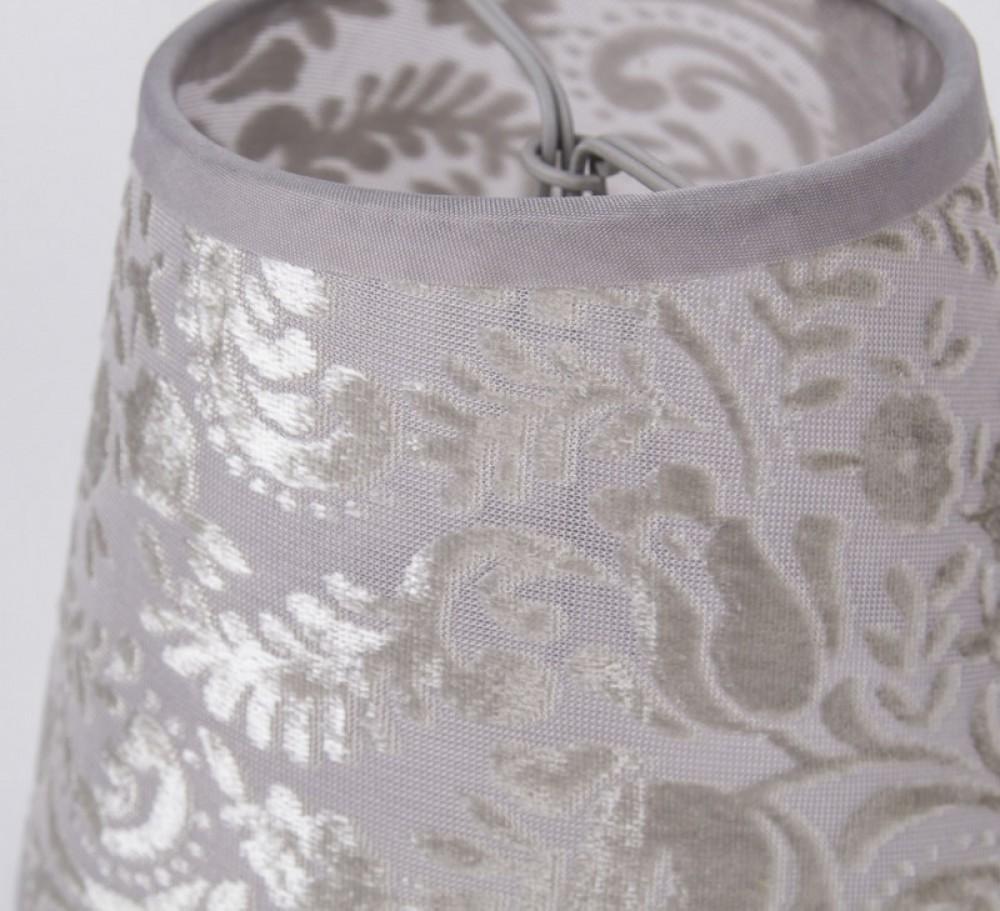 kiemmschirm grau transparent lampenschirm f r. Black Bedroom Furniture Sets. Home Design Ideas