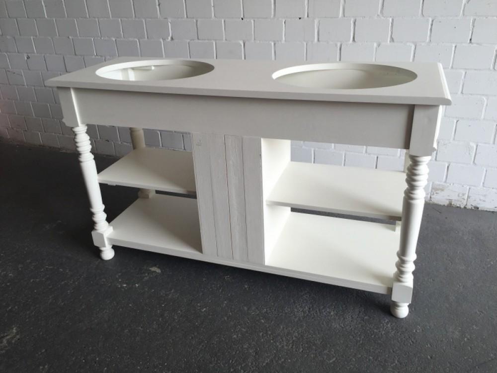 waschtisch wei massivholz doppelwaschtisch im landhausstil spiegel wei. Black Bedroom Furniture Sets. Home Design Ideas