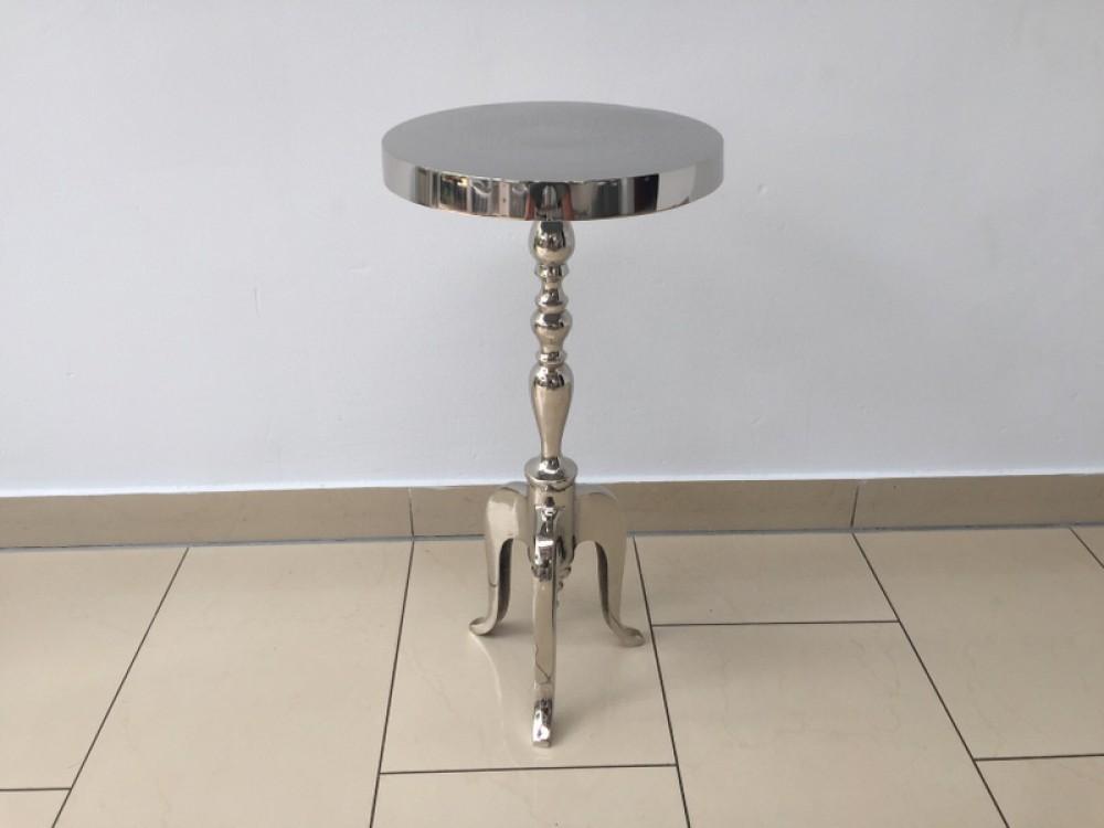 beistelltisch silber metall aluminium beistelltisch silber durchmesser 29 cm. Black Bedroom Furniture Sets. Home Design Ideas