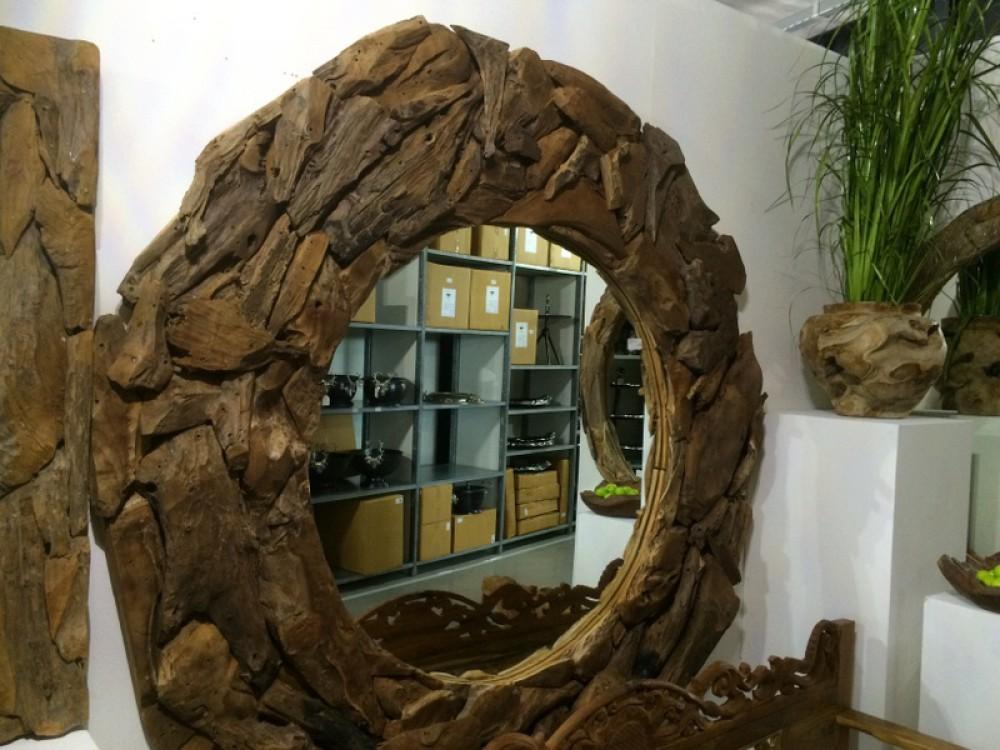 Spiegel Treibholz spiegel treibholz wandspiegel durchmesser 200 cm