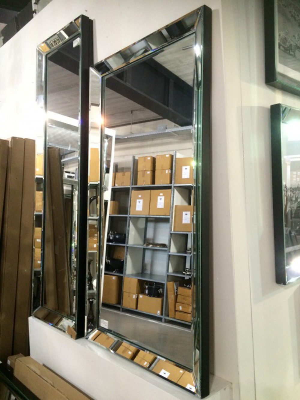 spiegel wandspiegel ma e 145 x 40 cm. Black Bedroom Furniture Sets. Home Design Ideas