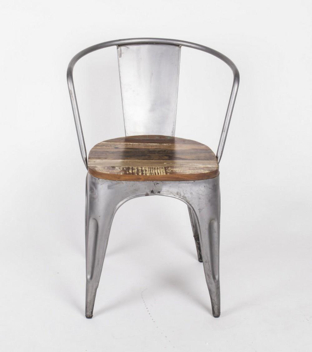 Stuhl aus metall und holz im industriedesign for Stuhl industriedesign
