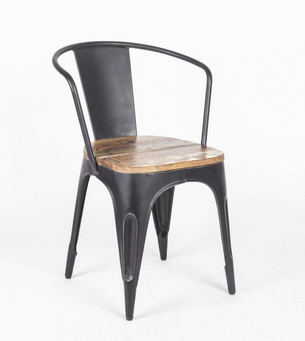 2er set st hle aus metall und holz im industriedesign. Black Bedroom Furniture Sets. Home Design Ideas
