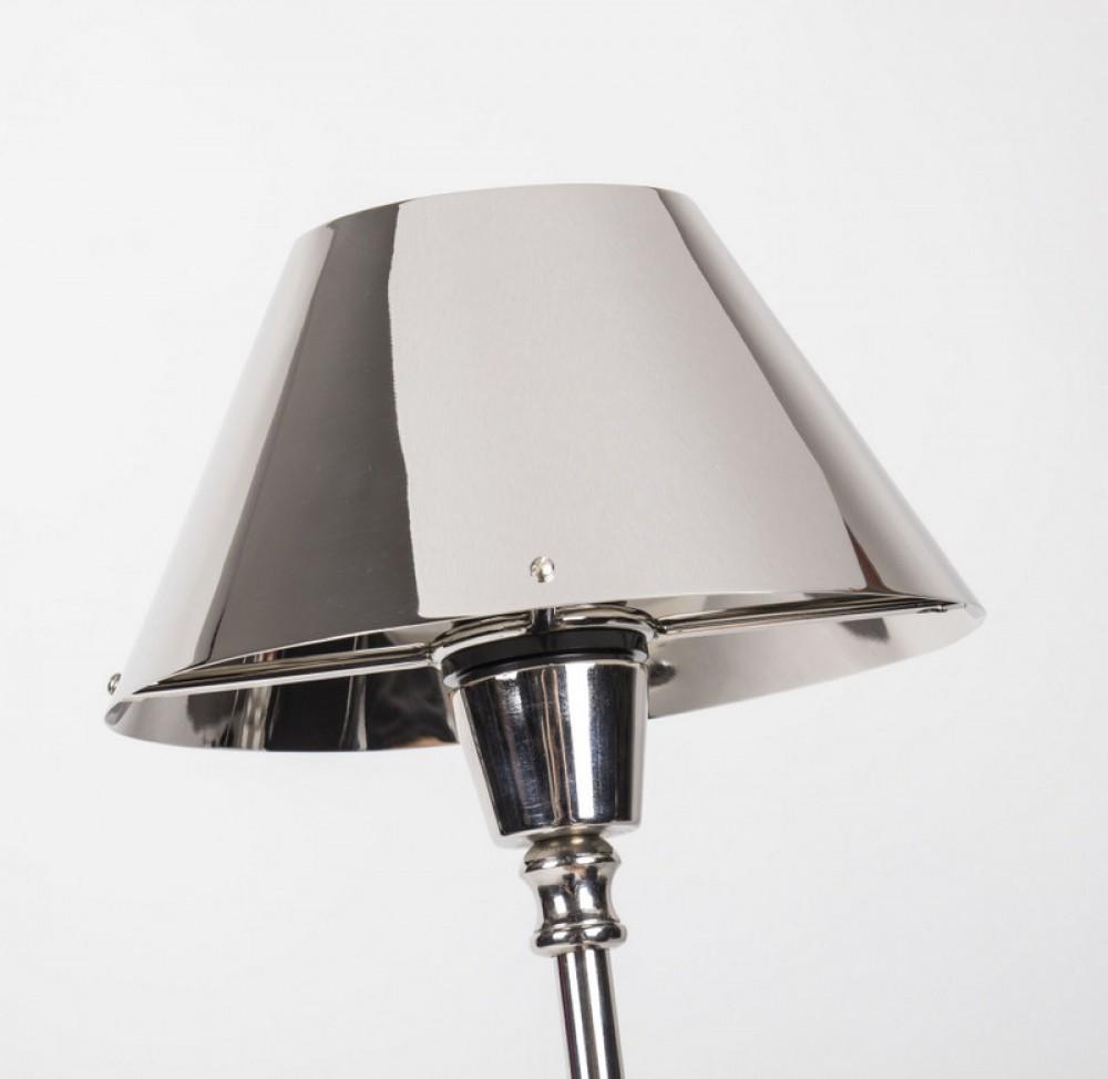 metall lampenschirm verchromt f r tischleuchte form oval. Black Bedroom Furniture Sets. Home Design Ideas