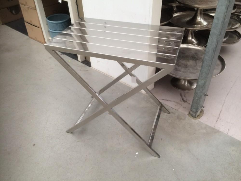 Beistelltisch metall silber ma e 60 x 38 cm for Exklusive couchtische