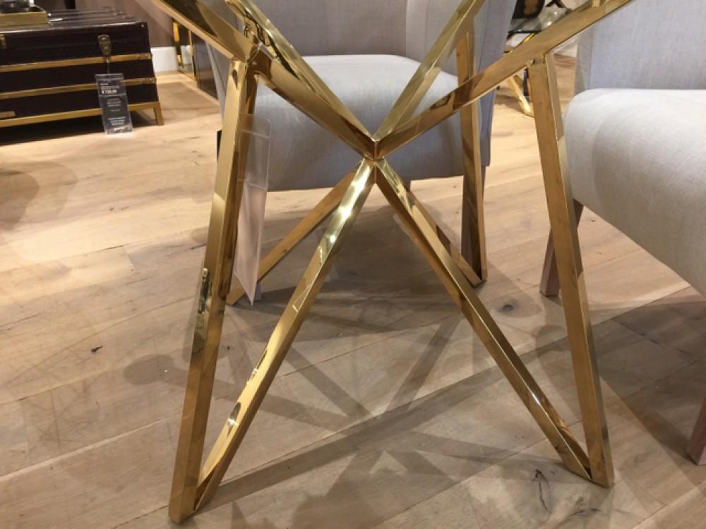 runder tisch glas metall glastisch rund gold esstisch rund durchmesser 120 cm. Black Bedroom Furniture Sets. Home Design Ideas