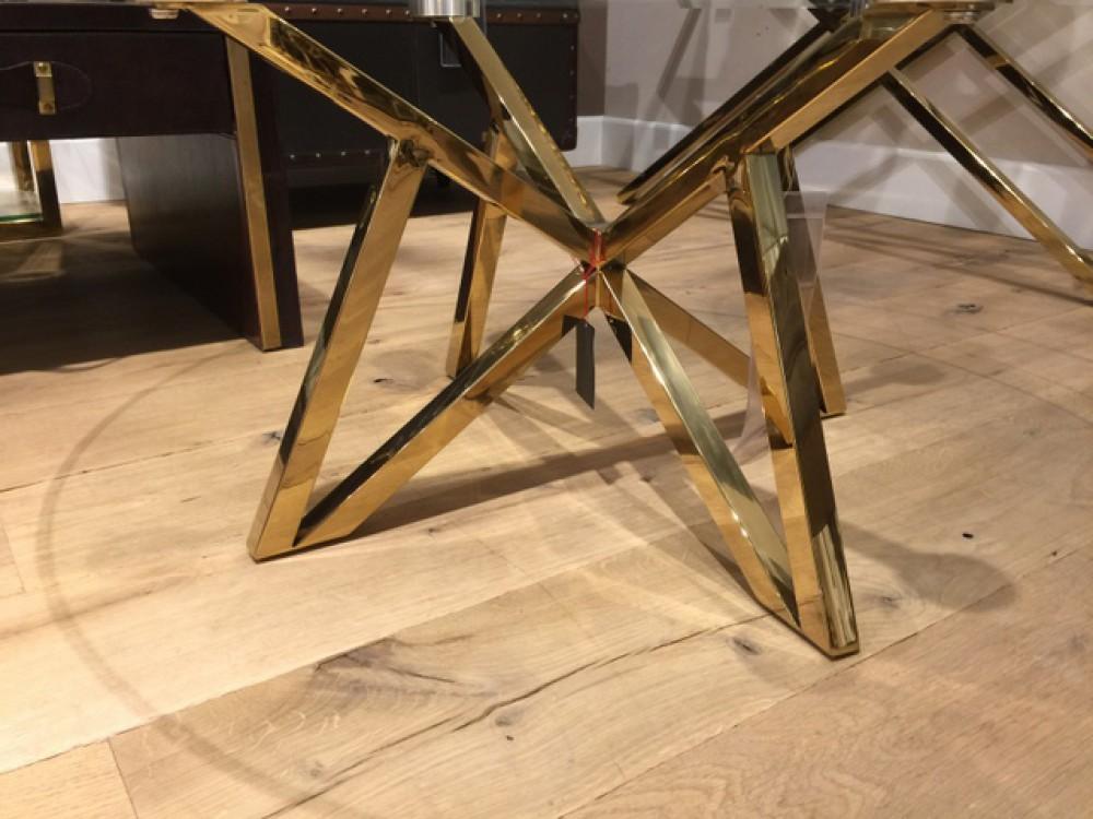 runder couchtisch glas metall glastisch rund gold tisch rund durchmesser 100 cm. Black Bedroom Furniture Sets. Home Design Ideas