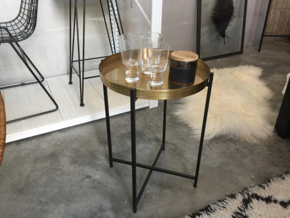 beistelltisch rund schwarz bronze tisch rund. Black Bedroom Furniture Sets. Home Design Ideas
