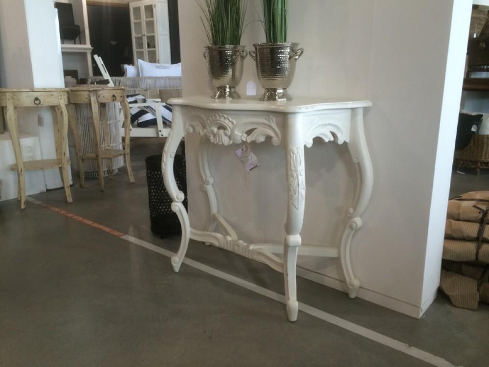 wei e barock konsole sidebord. Black Bedroom Furniture Sets. Home Design Ideas