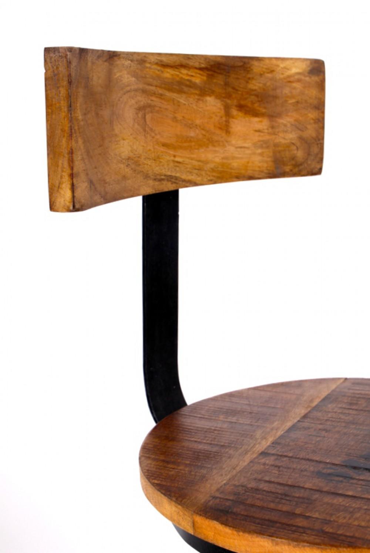 Barhocker tresenhocker im industriedesign aus akazienholz for Barhocker industriedesign